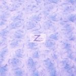 Rosette Floral Soft Minky Fabric Lilac