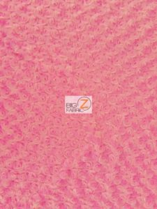 Rosette Minky Fabric Candy Pink