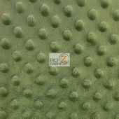 Dimple Dot Baby Soft Minky Fabric Rosemary Green