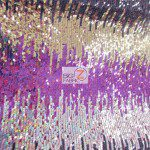 Low Price Moon Shadow Sequins Fabric Multi-Color Fuchsia