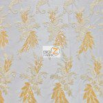 Low Price Angel Floral Sequins Fabric Gold
