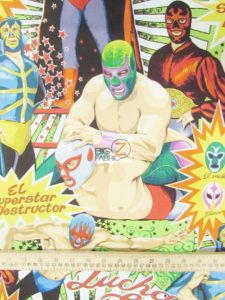 Low Price Alexander Henry Super Lucha Libre Wrestling Cotton Fabric