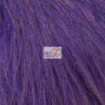 Low Price Grizzly Shaggy Fur Fabric Purple