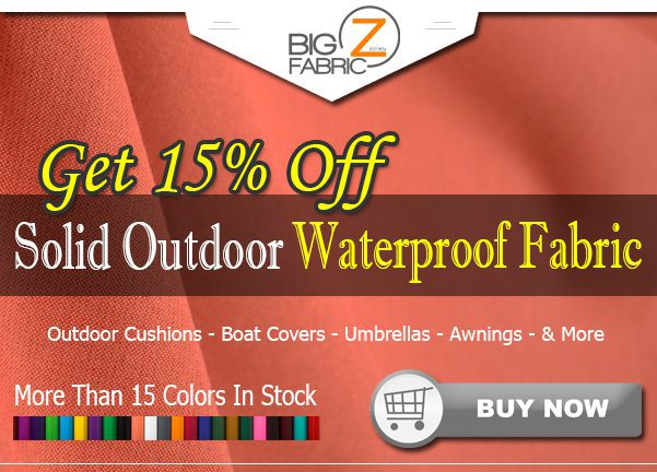 Solid Outdoor Fabric Low Price Sale