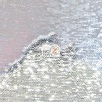 Low Price Reversible Mermaid Sequins Fabric Silver/Silver