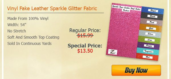 Sparkle Vinyl Fabric July Steal Deal