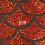 Low Price Scale Foil Nylon Spandex Fabric Red