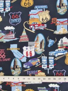 Alexander Henry Cotton Fabric Route 66
