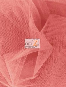 Tulle Fabric Coral