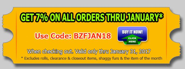 Big Z Fabric's New Year Discount!