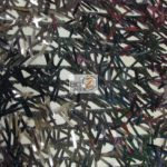 Low Priced Spike Sequins Holographic Mesh Fabric Black