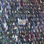 Low Priced Spike Sequins Holographic Mesh Fabric Mermaid Black