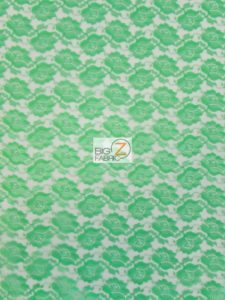 Rose Flower Lace Fabric Lime