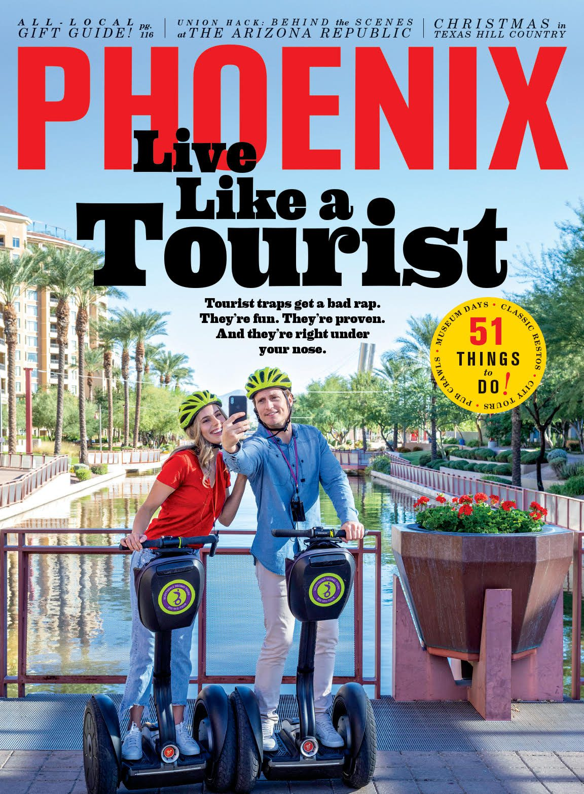 Scottsdale Segway Tours featured in Scottsdale Magazine and on the cover!