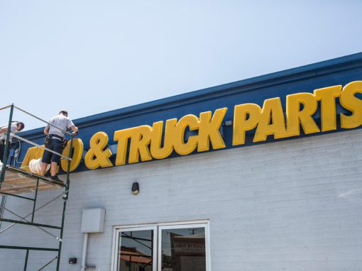 Napa Auto Parts Signage Upgrade